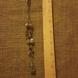 "Long 26""+ necklace labodorite handmade sterling"